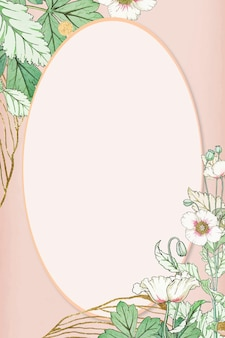 Cadre de fleur de vecteur dessiné à la main