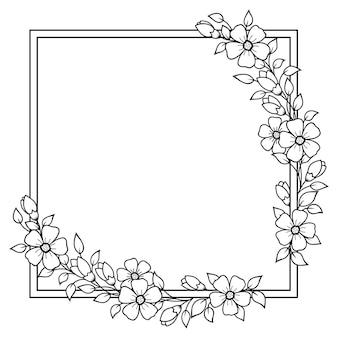Cadre de fleur.