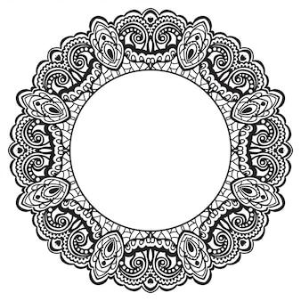 Cadre fleuri abstrait. élément de design