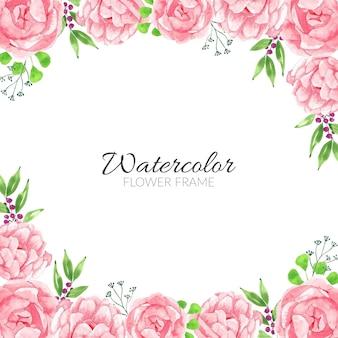 Cadre de fleurs aquarelle rose à usages multiples