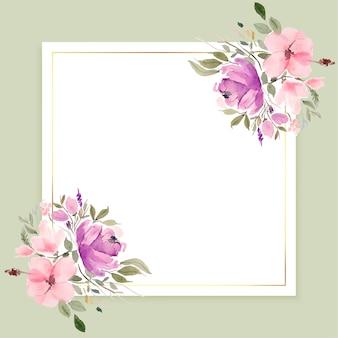 Cadre de fleurs aquarelle