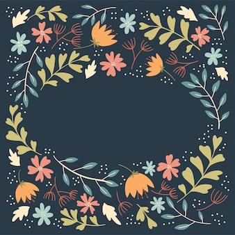Cadre de fleurs folkloriques