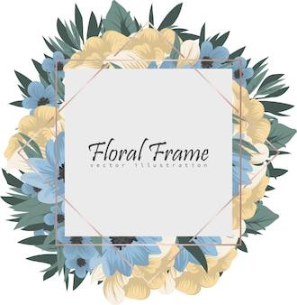 Cadre de fleurs fond