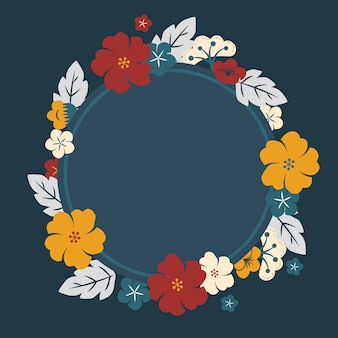Cadre de fleurs japonaises