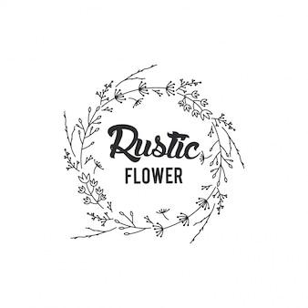 Cadre de fleurs rustiques