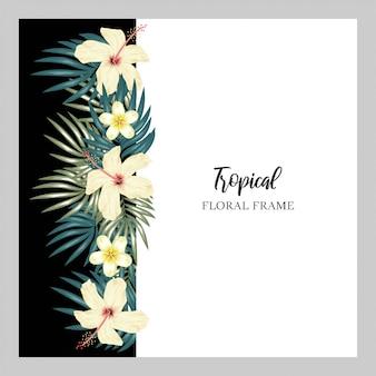 Cadre de fleurs tropicales