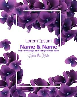 Cadre fleurs violettes