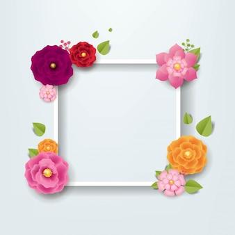 Cadre avec fleurs