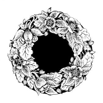 Cadre de fleurs.