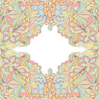 Cadre floral abstrait coloré.