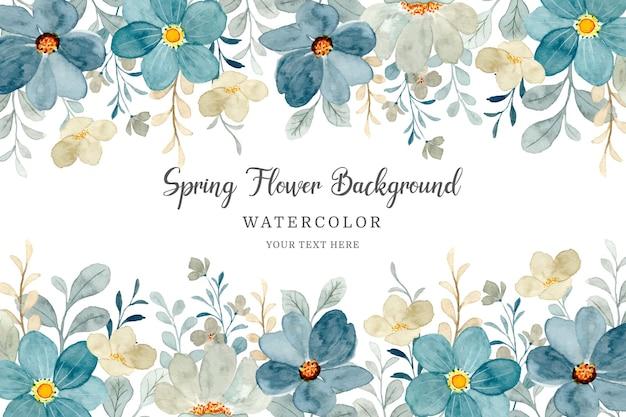 Cadre floral aquarelle fleur fond abstrait