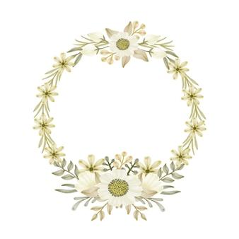 Cadre floral cercle
