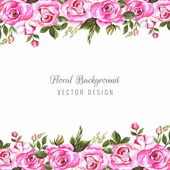 Cadre floral coloré de mariage