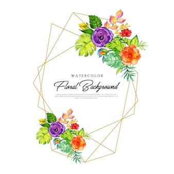 Cadre floral coloré