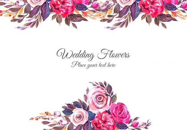 Cadre floral décoratif de mariage