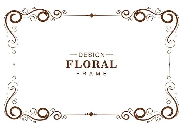 Cadre floral décoratif ornemental