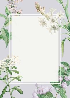 Cadre floral décoré