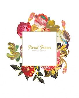 Cadre floral design élégant. moderne minimal