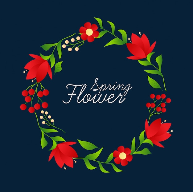 Cadre floral avec design vintage