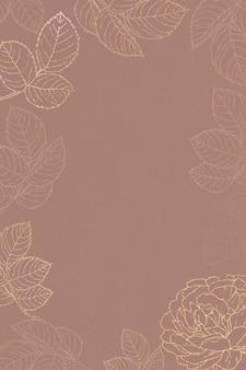 Cadre floral doré vierge
