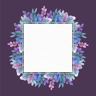 Cadre floral avec espace blanc