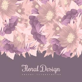 Cadre floral avec une fleur colorée