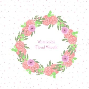 Cadre floral avec des fleurs magnifiques