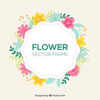 Cadre floral joyeux