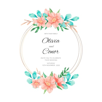 Cadre floral de mariage élégant