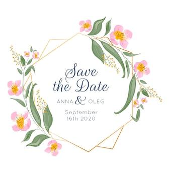 Cadre floral de mariage