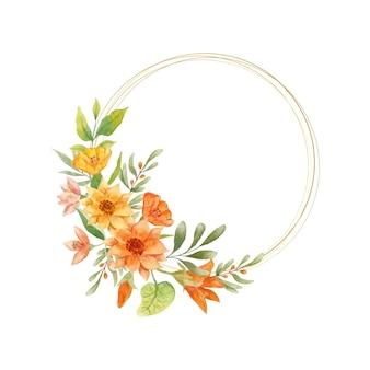 Cadre floral de printemps aquarelle belle élégante