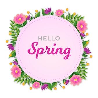 Cadre floral de printemps