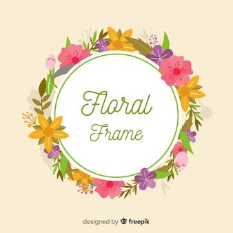 Cadre floral à ressort plat