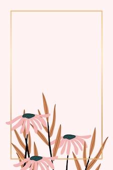 Cadre floral rétro