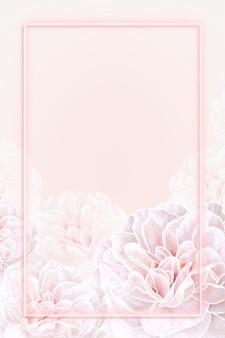 Cadre floral rose fluo