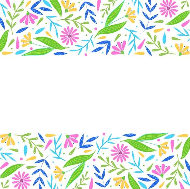 Cadre floral vide décoratif