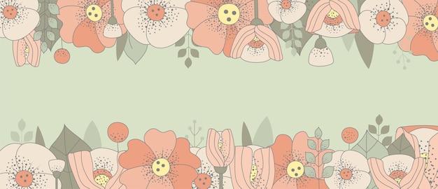 Cadre floral vintage avec place pour le texte