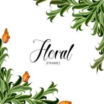 Cadre floral