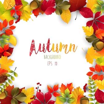 Cadre de fond automne isolé