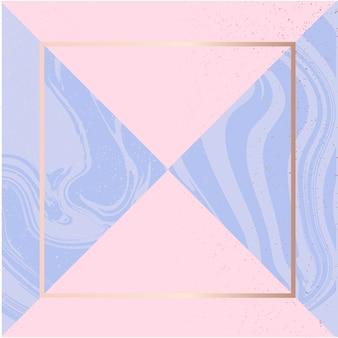 Cadre de fond carré art fluide rose fashion