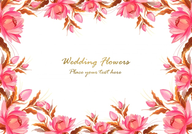Cadre en fond de composition florale décorative