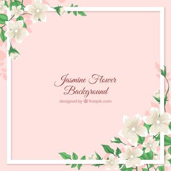 Cadre de fond avec du jasmin