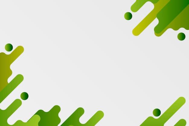 Cadre de fond fluide vert