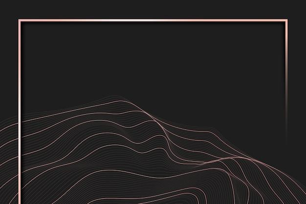 Cadre de fond de ligne de contour