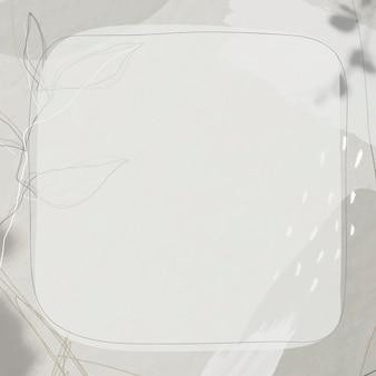 Cadre sur fond de memphis