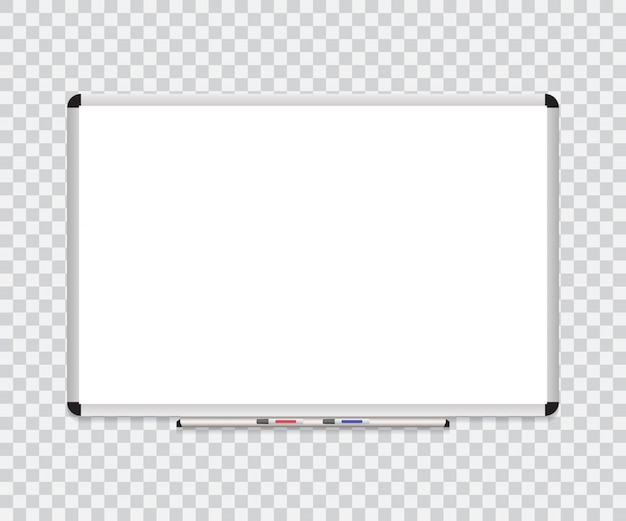 Cadre de fond de tableau blanc avec tableau blanc effaceur