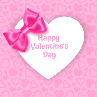 Cadre avec forme de coeur sur fond rose festif motif coeurs sur fond pastel rose