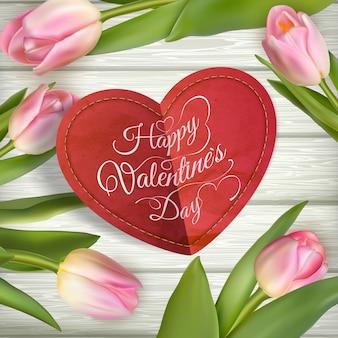 Cadre en forme de coeur. la saint valentin.