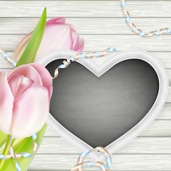 Cadre en forme de coeur.