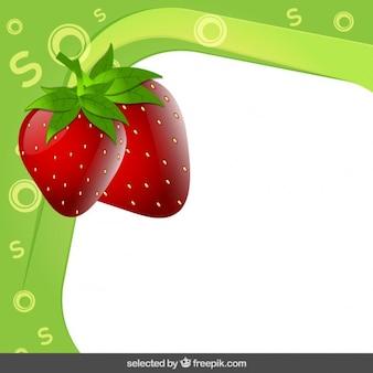 Cadre à la fraise